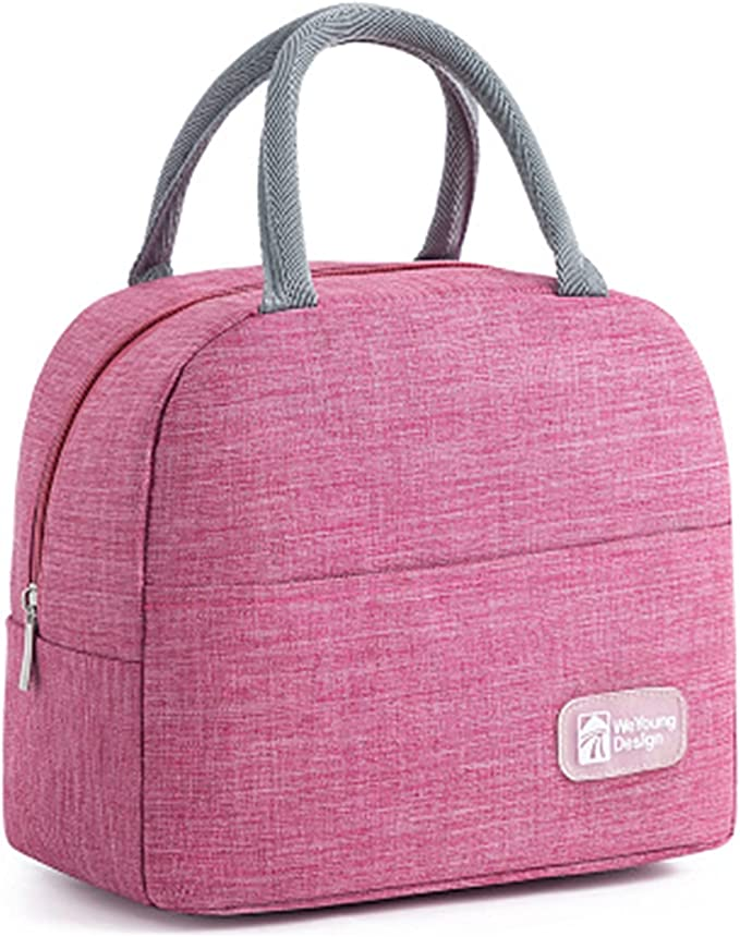 Thermal Lunch Box, Microwave Lunch Box Wheat Straw Dinnerware Food Storage Container Children Kids School Office Portable Bento Box Lunch Bag Keepwarm Lunch Boxes (Color : Pink-4)