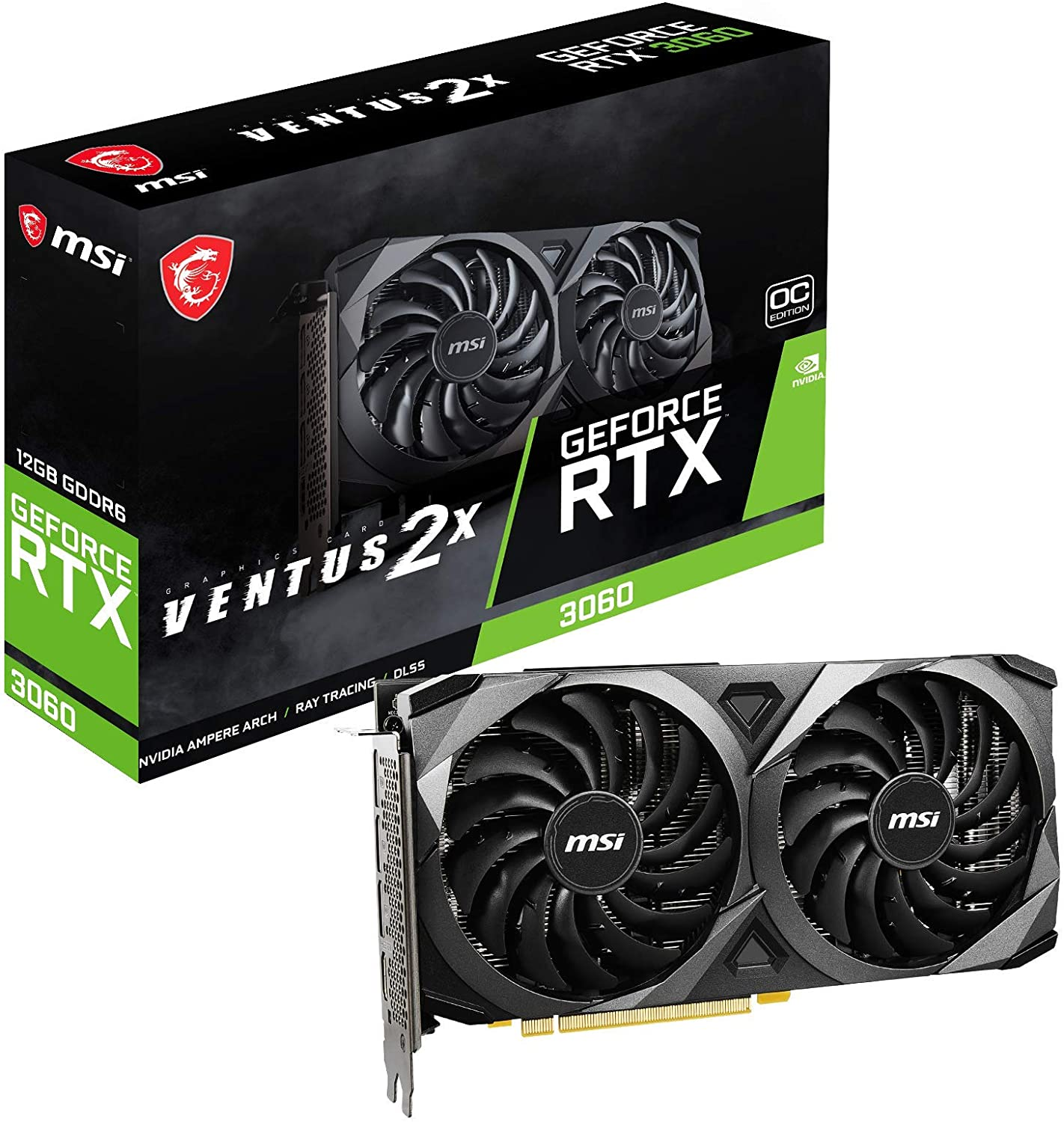 Image of MSI Gaming GeForce RTX 3060 12GB 15 Gbps GDRR6