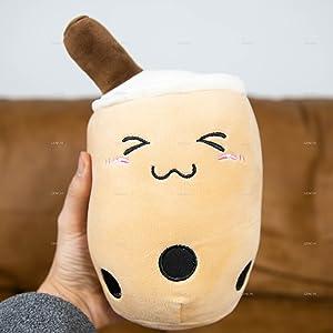 Boba Plush Genchi Reversible Anime Plushie Cute Kids Children Toy Pillow Toys Bubble Tea Kawaii